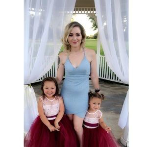 BABY BLUE GLITTER DRESS